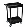 2 Shelf Black Tub Cart
