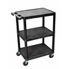 3 Shelf Black Cart