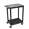 2 Shelf Black Cart