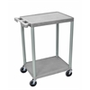2 Shelf Gray Cart