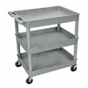 3 Shelf Large Gray Tub Cart