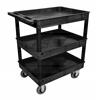 Black 24x32 3 Tub Cart W/ SP6 Casters