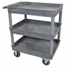 Gray 24x32 3 Tub Cart W/ SP6 Casters