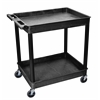 2 Shelf Large Black Tub Cart