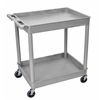 2 Shelf Large Gray Tub Cart