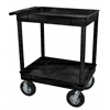 Black 24x32 2 Tub Cart W/ P8 Casters