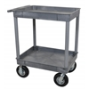 Luxor Gray 24x32 2 Tub Cart W/ P8 Casters