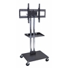 "Luxor H Wilson Universal LCD/ Flat Panel Stand W/ Shelf & 4"" Casters"
