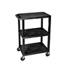 H. Wilson Black 3 Shelf Specialty Utility Cart