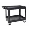 XLC11-B two shelf heavy-duty utility cart