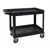 XLC11-B two shelf heavy-duty utility cart