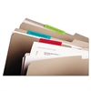 File Tabs, 3 x 1 1/2, Solid, Aqua/Lime/Red/Yellow, 24/Pack