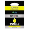 Lexmark 14N1095 (100XLA) Extra-High Yield Ink, Yellow