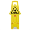 Rubbermaid Commercial Stable Multi-Lingual Safety Sign, 13w x 13 1/4d x 26h, Yellow