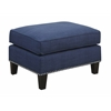 Picket House Furnishings Emery Ottoman, Blue