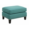 Picket House Furnishings Emery Ottoman, Teal