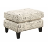 Picket House Furnishings Emery Ottoman, French Script