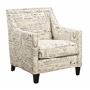 Picket House Furnishings Emery Chair, French Script