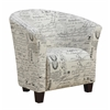 Picket House Furnishings Radford Accent Tub Chair, French Script