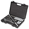 "Stanley Tools 26-Piece Mechanic's Tool Set, SAE, 1/2"" Drive, 7/16"" to 1 1/4"", 6-Point/12-Point"