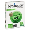 Navigator Eco-Logical Paper, 97 Brightness, 18 lbs., 8-1/2 x 11, Bright White, 5000/Carton