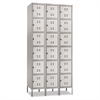 Safco Three-Column Box Locker, 36w x 18d x 78h, Two-Tone Gray