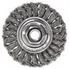 """Weiler Dualife STA-4 Twist Knot Wire Wheel, 4"""" dia, .02 Wire"""