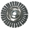 Anchor Brand Stringer Bead Wheel Brush, 4in Diameter, Carbon Steel, .02in Wire