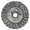 "Dualife STA-4 Twist Knot Wire Wheel, 4"" dia, .014 Wire"