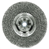 "Weiler Trulock TLN4 Narrow-Face Crimped Wire Wheel, Stainless Steel, 4"" dia, .0118 Wire"