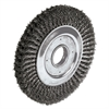 "Dualife Twist-Knot Wire Wheel, 10"" dia, 1 3/4"" Trim, .016 Wire, 2"" Arbor"