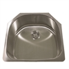 Nantucket Sinks' NS03i - 23 Inch D-Bowl Undermount Stainless Steel Kitchen Sink, 18 Gauge
