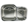 NS7030-16 - 32.5 Inch 70/30 Double bowl Undermount Stainless Steel Kitchen Sink, 18 Gauge