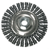 Stringer Bead Wheel Brush, 4in Diameter, Stainless Steel, .02in Wire