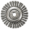 "Stringer-Bead Twist-Knot Wheel, 4"" dia, 7/8"" Trim, .20 Wire, 5/8"" Arbor"
