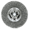 "Weiler Trulock TLN-8 Narrow-Face Crimped Wire Wheel, 8"" dia, .014 Wire, Arbor Dia: 5/8"""