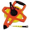 """Lufkin Engineer Hi-Viz Fiberglass Measuring Tape, 1/2""""x200ft, Yellow Blade, Orange Case"""