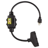 Ericson In Line GFCI Interrupter, 2 Foot Cable, 12/3 AWG, 15A, 125V
