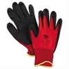 North Safety NorthFlex Red Foamed PVC Palm Coated Gloves, Medium
