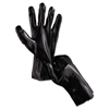 "Single Dipped PVC Gloves, Smooth Finish, Interlock Lined, 12"" Length, Lrg, Black"