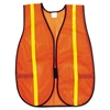 Polyester Mesh Safety Vest, 3/4in Lime Green Stripe