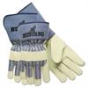 "Mustang Premium Grain-Leather-Palm Gloves, 4-1/2"" Long, Medium"