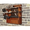 American Furniture Classics Lone Star 3 Gun Wall Rack with locking storage