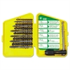 IRWIN S-112C High-Carbon Steel Tap and HSS Drill Bit Set