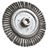 "Weiler Dualife STB-6 Stringer Bead Twist Knot Wire Wheel, 6"" dia, .02 Wire"