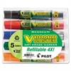 BeGreen Dry Erase Marker, Assorted, Chisel, 5/Pack