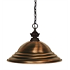 Z-Lite 1 Light Pendant Bronze