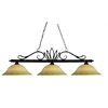3 Light Billiard Light Weathered Bronze
