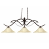 3 Light Billiard Light Bronze