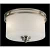Z-Lite 2 Light Flush Mount Brushed Nickel